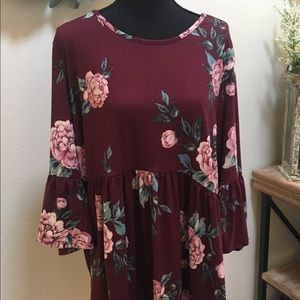 Monica Floral Tunic